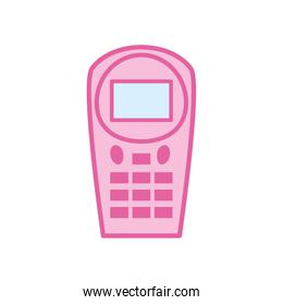 Isolated dataphone neon line and fill style icon vector design