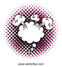 expresion cloud pop art style