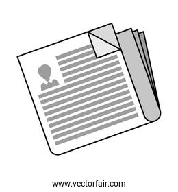 newspaper information document isolated icon