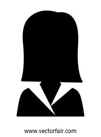 business woman silhouette avatar character