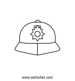 england police hat isolated icon