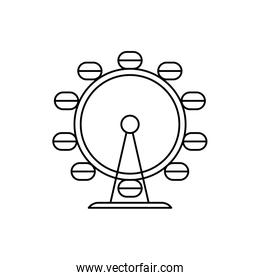 panoramic wheel attraction isolated icon