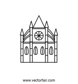 london castle style isolated icon