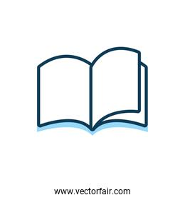 education text book isolated icon