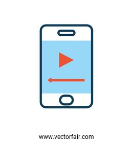 smartphone with media player button