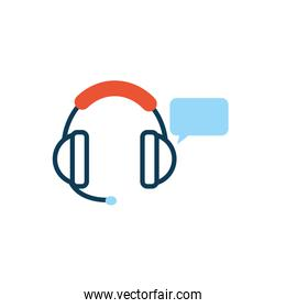 headset with speech bubble message
