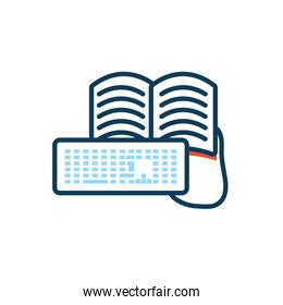 education electronic book with keyboard