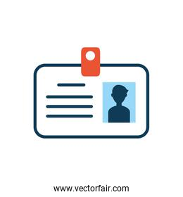 id document badge isolated icon
