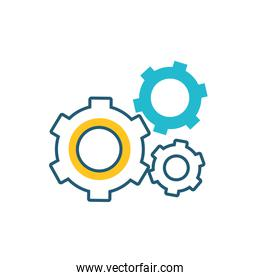 gears machine settings isolated design