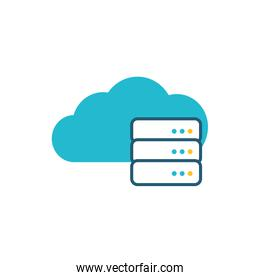 cloud computing server isolated icon