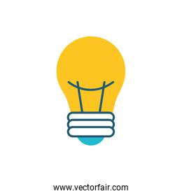 bulb light electric isolated icon