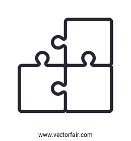Isolated puzzle game vector design