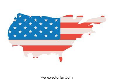 Isolated usa map vector design