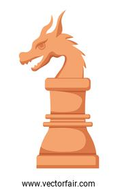 Isolated dragon chess piece design