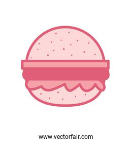Isolated hamburger line style icon vector design