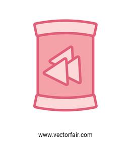 Isolated nachos bag line style icon vector design