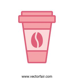 Isolated coffee mug drink line style icon vector design