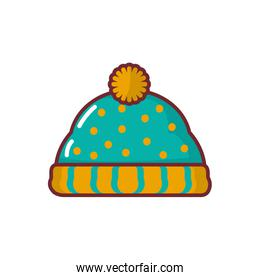 Isolated snow hat icon vector design