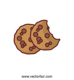 Isolated sweet cookies icon vector design