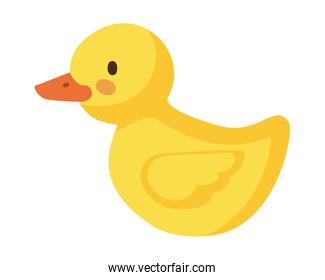 Isolated duck toy vector design