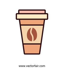 Isolated coffee mug drink line and fill style icon vector design
