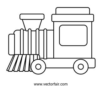 Isolated train toy vector design