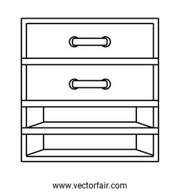Isolated home furniture vector design