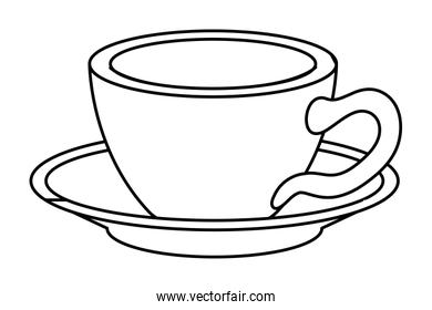 Isolated tea cup vector design
