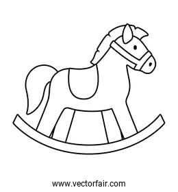 Isolated horse toy vector design