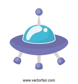 Isolated ufo toy vector design