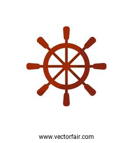 Isolated ship helm icon vector design
