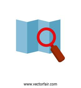 Isolated lupe and map vector design