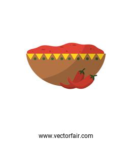 Isolated mexican food bowl vector design
