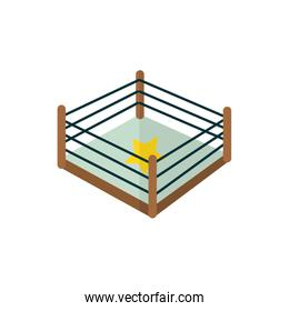 Isolated mexican fighting place vector design