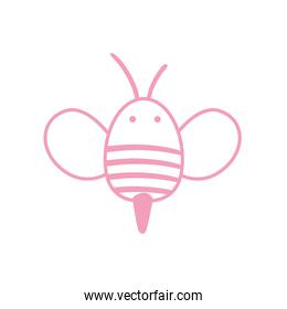 Isolated bee line style icon vector design