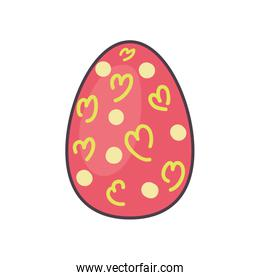Happy easter egg line and fill style icon vector design