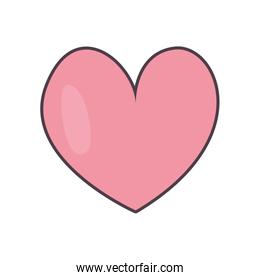 Isolated heart line and fill style icon vector design
