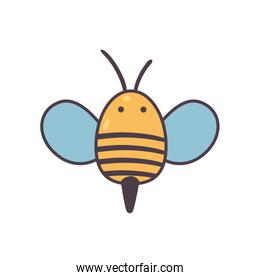 Isolated bee line and fill style icon vector design