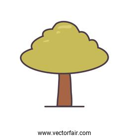 Isolated season tree line and fill style icon vector design
