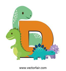 Isolated dinosaurs toy vector design