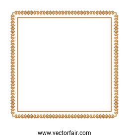 Isolated frame ornament vector design