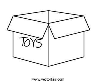 Isolated toys box vector design