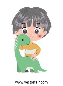 Isolated boy cartoon with toy vector design