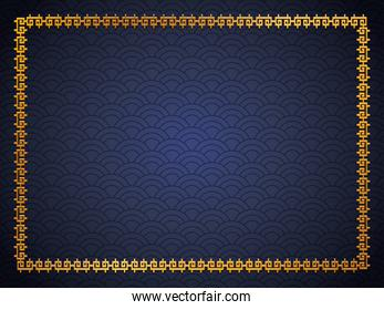 Chinese gold frame vector design
