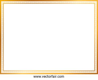 Gold and ornament frame vector design