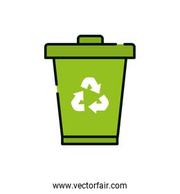 Isolated ecology and bio trash vector design