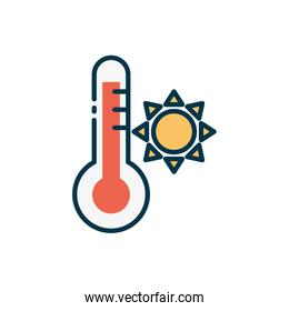 Isolated thermometer icon vector design