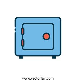 Strongbox of security system vector design