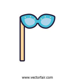 Isolated party glasses vector design