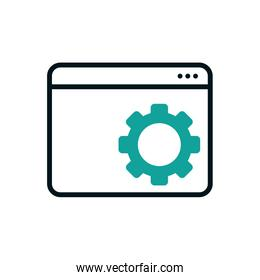Isolated website icon fill vector design